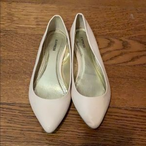 Express pointed cream flats